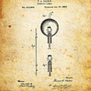 Edison's Patent Art Print by Ricky Barnard