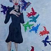 Edith Piaf  The Little Sparrow Art Print