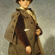 Edmond Dehodencq Wearing An Inverness Cape Art Print