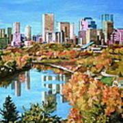Edmonton In Fall Art Print