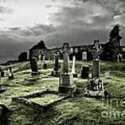 Eerie Cemetery Art Print