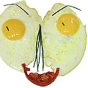 Egg Face Art Print