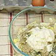 Egg Salad Ingredients Art Print