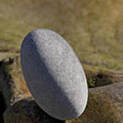 Egg-shaped Stone Art Print
