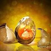 Egg World Art Print