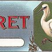 Egret Cigar Label Art Print