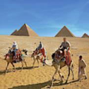 Egypt, Cairo, Giza, Tourists Ride Art Print