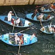 Egyptian Entrepreneurs At The Canal Locks Art Print