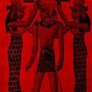 Pharaoh Atem Red Art Print