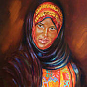 Egyptian Nubian Girl Art Print