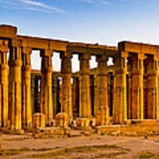 Egyptian Temple Ruins In Luxor Art Print by Mark E Tisdale