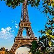 Eiffel In Green Art Print