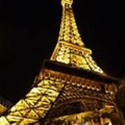 Eiffel Night Art Print