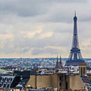 Eiffel Tower And Paris Skyline France By Deimagine