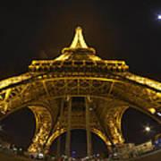 Eiffel Tower At Night Art Print