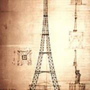 Eiffel Tower Design Art Print