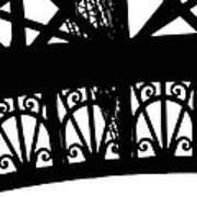 Eiffel Tower Girders Art Print