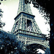 Eiffel Tower In Blue Art Print