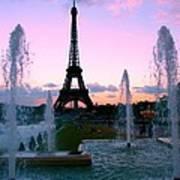 Eiffel Tower In Evening Light Art Print