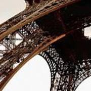 Eiffel Tower Left Leg Art Print