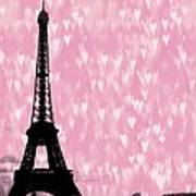 Eiffel Tower - Love In Paris Art Print