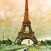 Eiffel Tower Mood Art Print