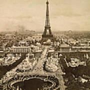Eiffel Tower, Paris, 1900 Art Print