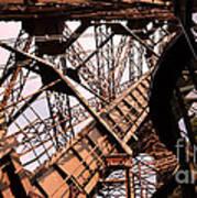 Eiffel Tower Paris France Close Up Art Print