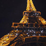 Eiffel Tower Paris France Illuminated Art Print by Patricia Awapara