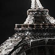 Eiffel Tower Paris France Night Lights Art Print by Patricia Awapara