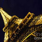 Eiffel Tower Paris France Side Art Print