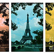 Eiffel Tower Paris France Trio Art Print