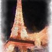 Eiffel Tower Paris Las Vegas Photo Art Art Print