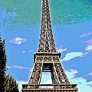 Eiffel Tower Posterized Art Print