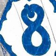 Eight Blue Tile Art Print