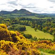 Eildon Hill - Three Peaks And A Valley Art Print