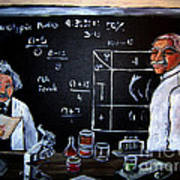 Einstein/carver Experiments Art Print by Sidney Holmes