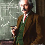 Einstein Discovers The Atomic Bomb 20140910 Art Print