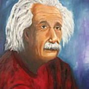 Einstein Print by Doris Cohen
