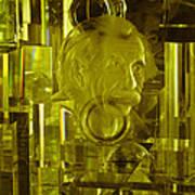 Einstein In Crystal - Yellow Art Print