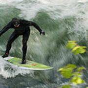 Eisbach Surfing Art Print