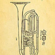 Eisenbrandt Cornet Patent Art 1854 Art Print