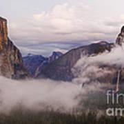 El Capitan Rises Over The Clouds Art Print