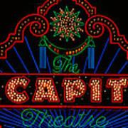 El Capitan Theatre Sign In Hollywood Art Print