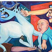 El Espectaculo De La Injusticia-triptico Art Print