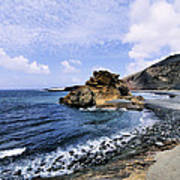 El Golfo Beach On Lanzarote Art Print