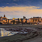 El Rompidillo Beach Panorama Cadiz Spain Art Print