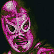 El Santo The Masked Wrestler 20130218m68 Print by Wingsdomain Art and Photography