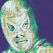 El Santo The Masked Wrestler 20130218v2 Art Print by Wingsdomain Art and Photography