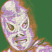 El Santo The Masked Wrestler 20130218v2m128 Print by Wingsdomain Art and Photography